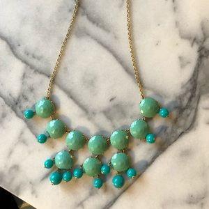 J.crew turquoise bubble necklace